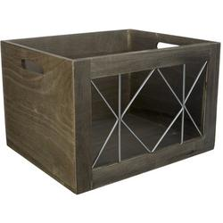 Wood & Metal Small Shelf Tote