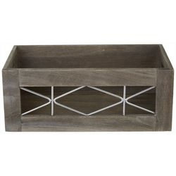 Small Wood & Metal Shelf Tote