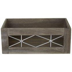 Small Wood & Metal Shelf Tote