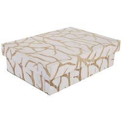 Coastal Home Geometric Rectangle Decorative Box