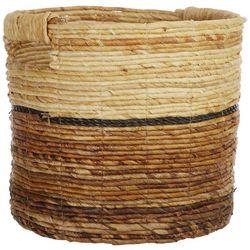 Coastal Home 12'' Banana Raffia Round Basket