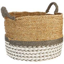 Coastal Home Large Round Water Hyacinth Basket