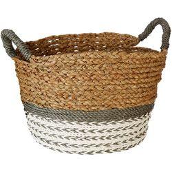 Coastal Home Medium Round Water Hyacinth Basket