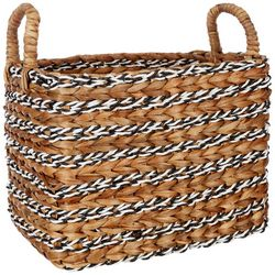 Coastal Home Medium Retangular Water Hyacinth Basket