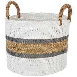 Coastal Home Medium Stripe Seagrass Basket