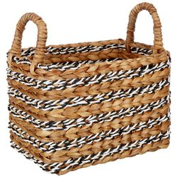 Coastal Home Small Retangular Water Hyacinth Basket