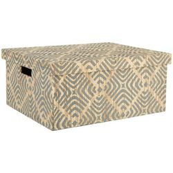 Coastal Home X-Large Geo Diamond Rectangle Decorative Box