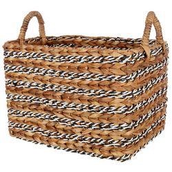 Coastal Home Large Retangular Water Hyacinth Basket