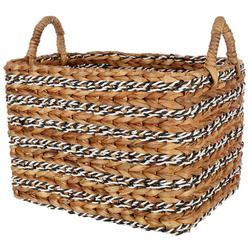 Large Rectangular Water Hyacinth Basket