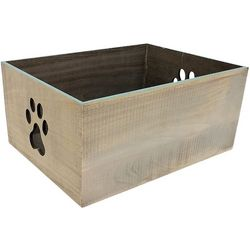 7'' Large Paw Print Decorative Crate
