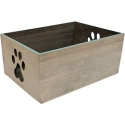 Coastal Home 6'' Medium Paw Print Decorative Crate