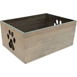 6'' Medium Paw Print Decorative Crate