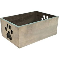 Coastal Home 4.75'' Small Paw Print Decorative Crate
