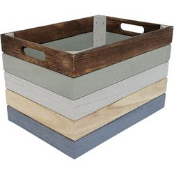 10.25'' Colorblocked Decorative Crate