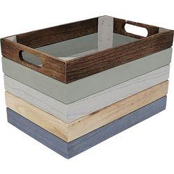 7'' Colorblocked Decorative Crate