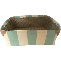 Coastal Home 6.25'' Stripe Woven Basket