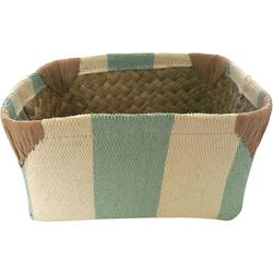 Coastal Home 4.25'' Stripe Woven Basket