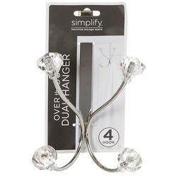 Simplify 4 Hook Over The Door Dual Hanging