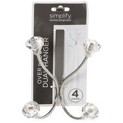 4 Hook Over The Door Dual Hanging Rack