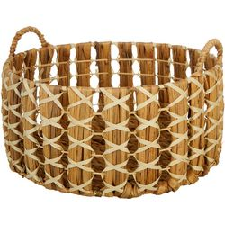 Three Hands Corp. Round X-Large Braided Decorative Basket