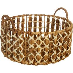 Three Hands Corp. Round Large Braided Decorative Basket