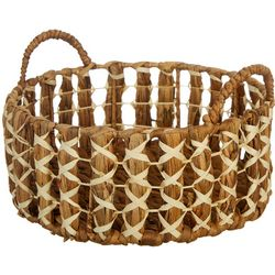 Three Hands Corp. Round Medium Braided Decorative Basket