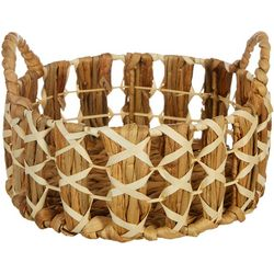 Three Hands Corp. Round Small Braided Decorative Basket