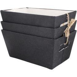 3-pc. Hardsided Storage Bin Set