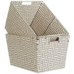 Azzure Kenton Grey 2-pc. Cotton Strap Weaved Storage Bin Set