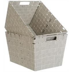 Kenton Grey 2-pc. Cotton Strap Storage Bin Set