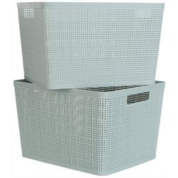 Kenton Grey 2-pc. Basketweave Storage Bin Set