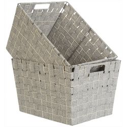Azzure Kenton Grey 2-pc. Cotton Strap Weave Storage