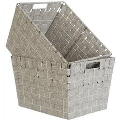 Kenton Grey 2-pc. Cotton Strap Weave Storage Bin Set