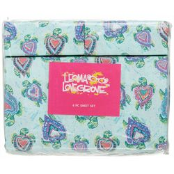 Sea Hearts Microfiber Sheet Set