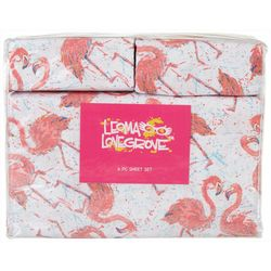 Leoma Lovegrove Flamingo Friends Microfiber Sheet Set