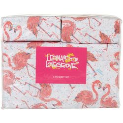 Flamingo Friends Microfiber Sheet Set