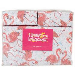 Flamingo Friends Microfiber Sheet Set
