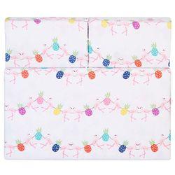 Whimsical Flamingo Pineapple Sheet Set