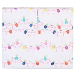 Whimsical Flamingo Pineapple Sheet Set