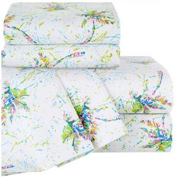 Palms Away Print Microfiber Sheet Set