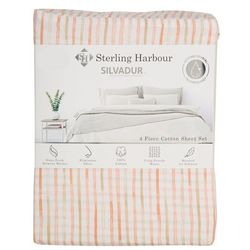 Sterling Harbour Striped Sheet Set