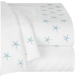 Tackle & Tides Embroidered Starfish Sheet Set