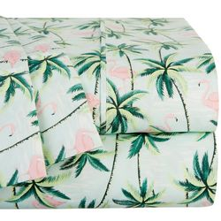 Coastal Home Tropical Flamingo Sheet Set