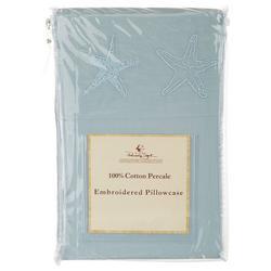 2-pk. Embroidered Hem Starfish Pillowcase Set