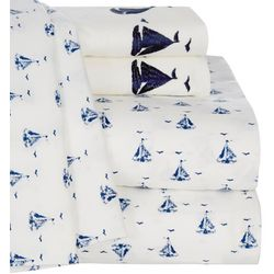 Coastal Home Sailboat Printed Sheet Set