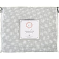 300 Thread Count Pin-Dot King Sheet Set