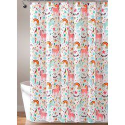 Lush Home Unicorn Heart Shower Curtain