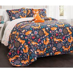 Lush Home Pixie Fox Quilt Set