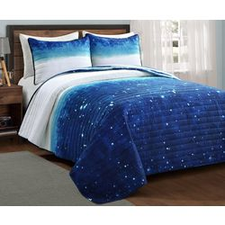 Make A Wish Space Star Reversible Quilt Set