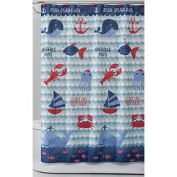 Saturday Knight Set Sail Fabric Shower Curtain